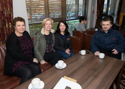 Ivana Ní Ghallchobhair, Helena McClafferty, Maureen Hamilton and Frank Larkin at the Donegal Business Network (DBN) General Data Protection Regulation (GPDR) workshop the Radisson Hotel Letterkenny on Wednesday morning. Photo Clive Wasson