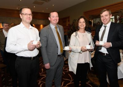 Dean Spencer, James Gallagher, Carol Meehan and Conal Dunne at the Donegal Business Network (DBN) General Data Protection Regulation (GPDR) workshop the Radisson Hotel Letterkenny on Wednesday morning. Photo Clive Wasson